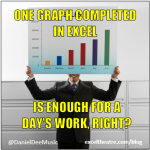 One graph completed in excel is enough for a days work right? http://exceltheatre.com/blog/