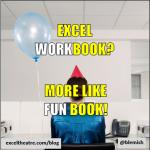 Workbook? More like fun book! http://exceltheatre.com/blog/