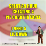 spent an hour creating a pie chart in Excel. I need a lie down http://exceltheatre.com/blog/