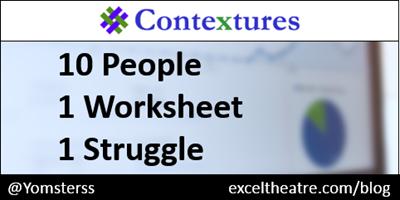 10 people, 1 worksheet, 1 struggle