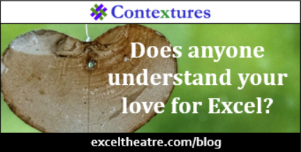 Does anyone understand your love for Excel? http://exceltheatre.com/blog/