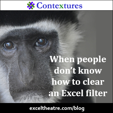 When people don't know how to clear an Excel filter http://exceltheatre.com/blog/