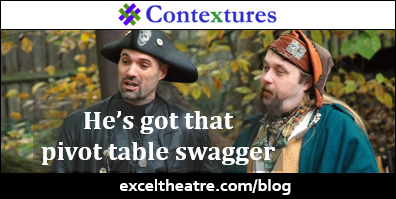 He's got that pivot table swagger http://exceltheatre.com/blog/