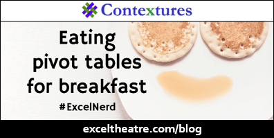 Eating pivot tables for breakfast http://exceltheatre.com/blog/