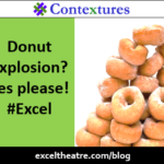 Donut explosion? Yes please! #Excel http://exceltheatre.com/blog/