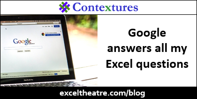 Google answers all my Excel questions